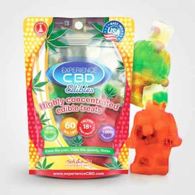Experience CBD Gummies Lego Man With Nerds